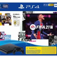 קונסולה 500GB PlayStation 4 Slim+משחק FIFA 21